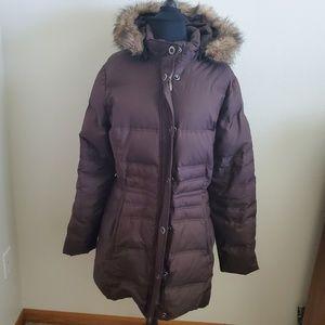 Eddie Bauer Brown Goose Down 700 Fill Coat Size L